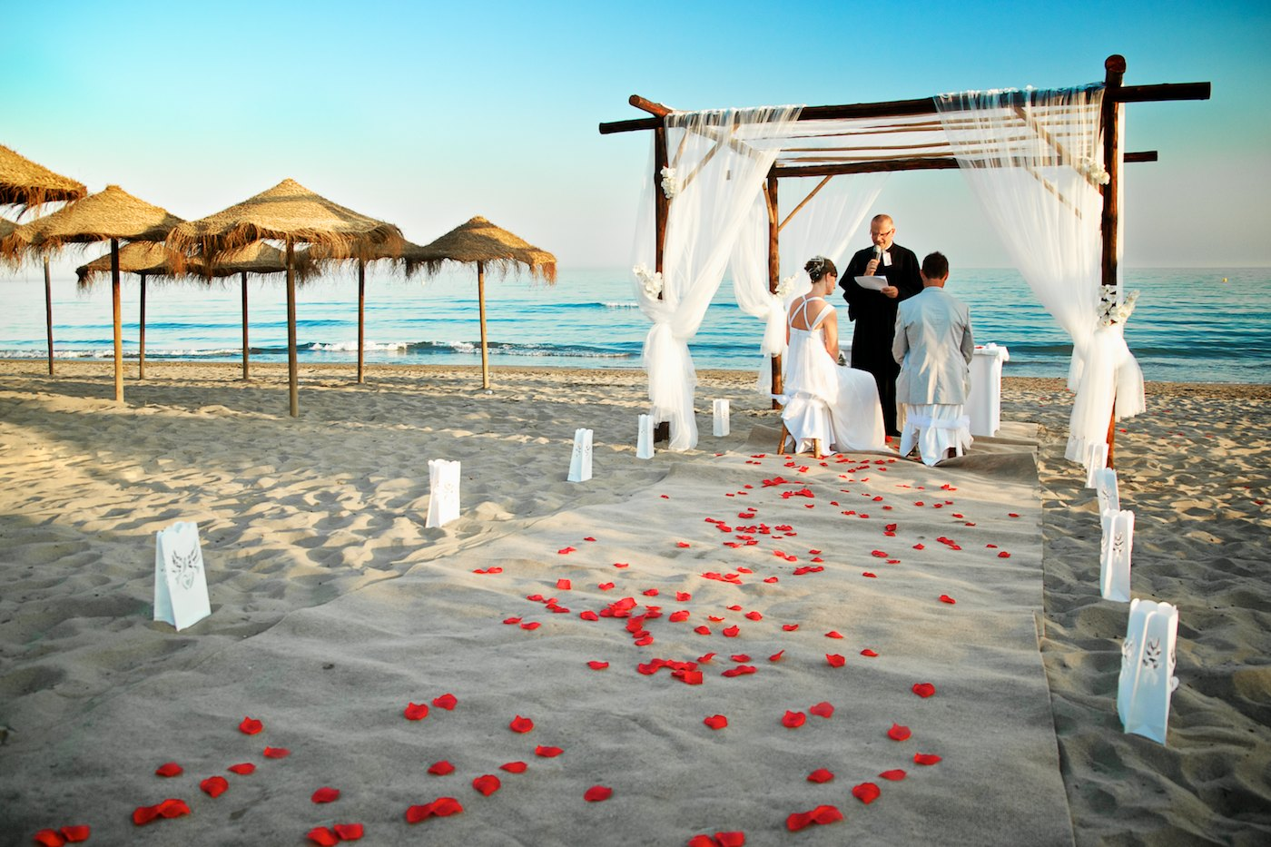 beach wedding ideas romantic decoration